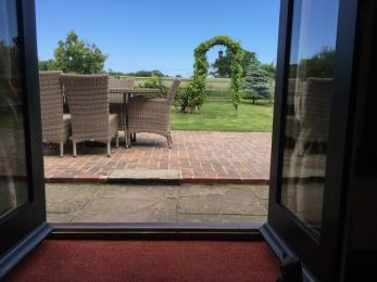 Access from the lounge into the enclosed garden.