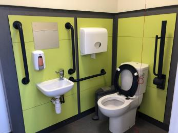 Inside of unisex accessible toilet