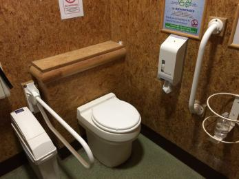 Toilet designated for disabled visitors