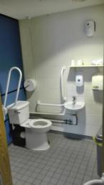 Second floor accessible toilet