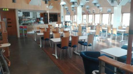 The Waterside Cafe at the National Maritime Museum Cornwall