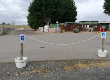 Designated accessible parking area