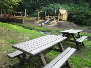 Picnic tables at Clearburn