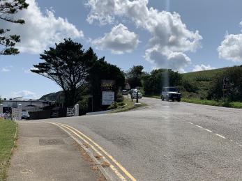 Main road turn off to Pentewan Sands entrance