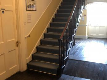 Stairs to upstairs displays