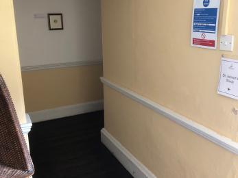 Entrance corridor to Study
