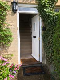 Front door opening inwards
