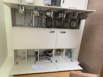 Cupboard storage in Henderson kitchen.