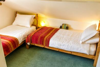 Twin Bedroom - see sloping ceiling