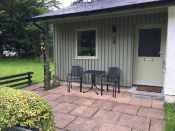 Entrance patio area