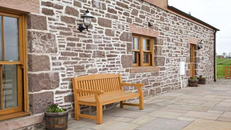 The Distillery outside bench