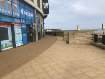Footpath and drop off area