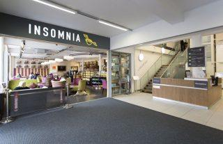 The entrance to Insomnia cafe on the ground floor of The Symington Building.