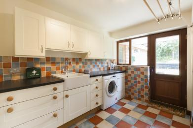 Utility room with washing and drying facilities