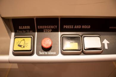 Lift controls.