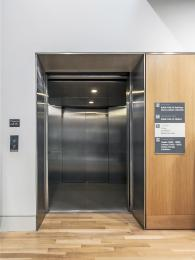 Main lift with doors open