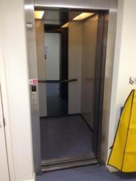 Lift to activities room with doors open
