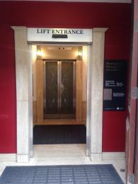 Edmund Street Lift, entrance off Edmund Street .