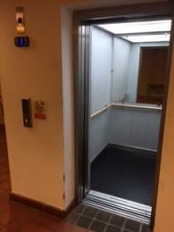 Outside of lift