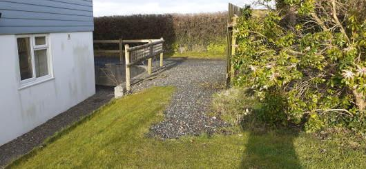 Access to Little Causwell garden via the drive.