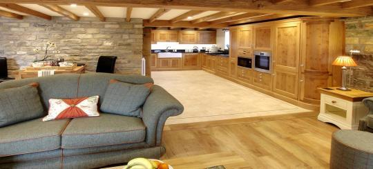The Dairy - Spacious access from the lounge to the kitchen