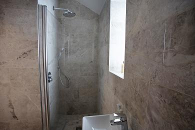 Narrow Shower Room and toilet