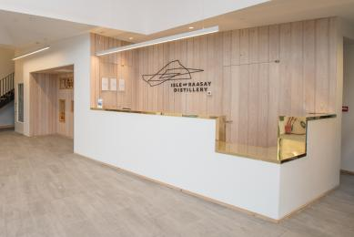 Lowered reception desk in the Visitor Centre