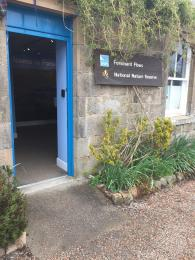 Visitor Centre main door open to show access
