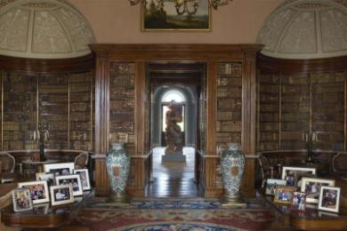 The view from the Main Library through to the Entrance Hall.