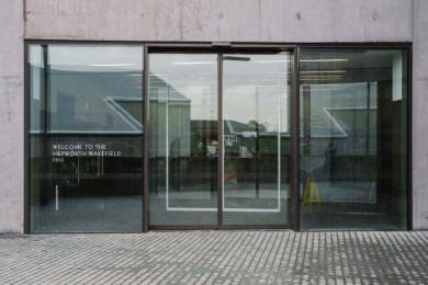 These are the main doors to The Hepworth Wakefield