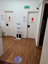 Cafe toilets for the public