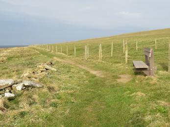 Bench overlooking the northern end of the Choin