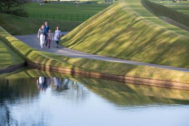 Image showing an example of the tarmac road which runs partly through Jupiter Artland