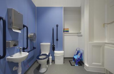 Modern One - Learning Space, accessible toilet with baby changing