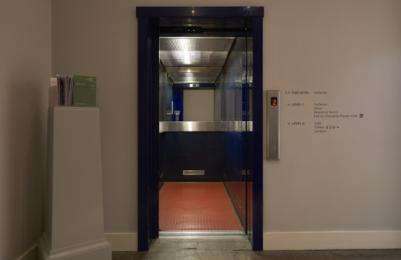 Modern One - Main Lift doors open, showing interior