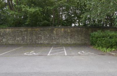 Modern One - additional accessible parking spaces near Changing Places Toilet in rear car park