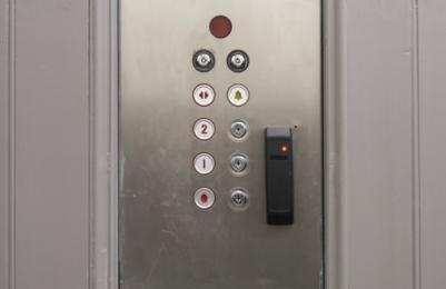 Modern Two - Lift control panel with raised buttons