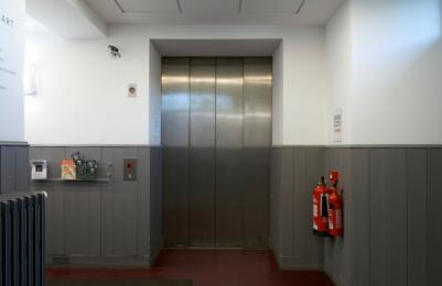 Modern Two - Lift to all floors - Level 0 at accessible rear entrance doors closed