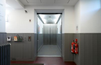Modern Two - Lift to all floors - Level 0 at accessible rear entrance, doors open showing interior