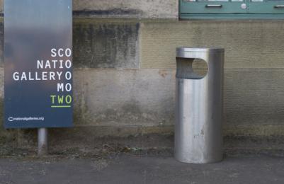Modern Two - dustbin at back door