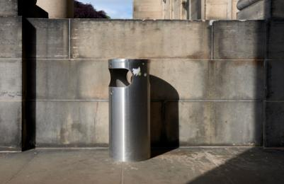 Modern Two - dustbin at front door