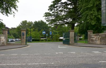 Modern Two - entrance to car park and drop-off area