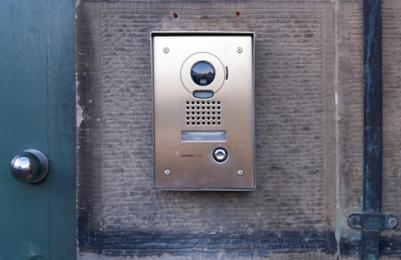 Modern Two - entry buzzer at accessible entrance