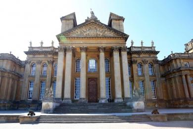 The main entrance to Blenheim Palace