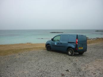 Lower carpark with beach views