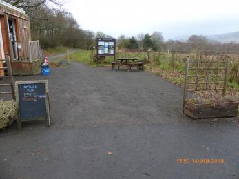 Entrance from carpark to nature reserve