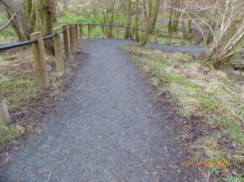 Handrail along Airey trail