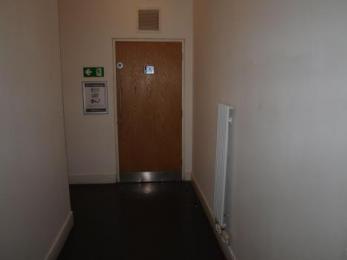 Door to toilet