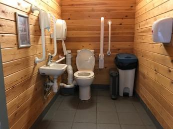 Toilet by play area
