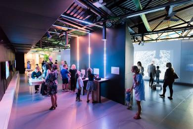 Lower lighting levels in our Spark Gallery (depending on current exhibition)